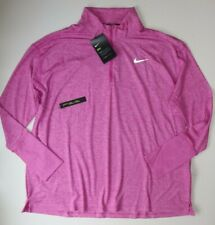 NIKE DRY ELEMENT LONG SLEEVE 1/2 ZIP RUNNING TOP - AO8125-623 PLUS SIZE - 1X 2X