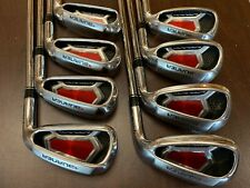 TaylorMade Burner Superlaunch Iron Set 4-PW, AW 85 Steel Regular RH 53133 Nice!