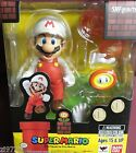 """In STOCK S.H. Figuarts """"Fire Super Mario"""" Bros. (Brothers) Bandai Action Figure"""