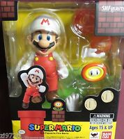 "In STOCK S.H. Figuarts ""Fire Super Mario"" Bros. (Brothers) Bandai Action Figure"