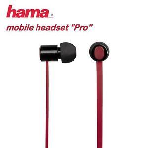 "Kopfhörer Hama 15658 - Mobile Headset ""Pro"", Schwarz - Rot"