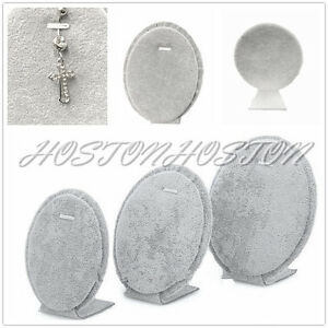 Oval Shape Necklace Body Jewellery Holder Display Stands for Trade Show Set of 3