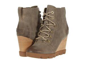Women's Shoes Sorel JOAN UPTOWN LACE Leather Winter Boots 1930911297 KHAKI II