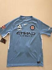 Rare New Nike Melbourne City Mens Blue White Soccer Jersey Dri-Fit 873077-490 M