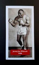 PUGILATO-USA-JERSEY JOE WALCOTT-punteggio PUGILI UK TRADE card