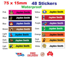 Personalized Name Labels Stickers School Books Tag School  Childcare toys Bag 48