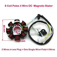 4 Wire 8 Coil DC Scooter Magneto Stator Chinese GY6 50cc Moped Go Kart Quad ATV
