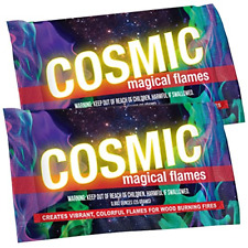Cosmic Flames - Pack of 12 - Magic Flames - Colored Flames - Long Lasting Flames