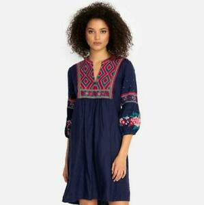 new rare JOHNNY WAS ANNALIESE EMBROIDERED tunic dress l large XXL 2x