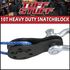 "TUFF STUFF CNC MACHINED 10 TON SNATCH BLOCK WINCH PULLEY 1/4"" 20,000lb CAPACITY"