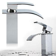 Bagno cascata lavandino rubinetto lavabo bagno Miscelatore Quadrato Cromato Moderno Rubinetto in ottone