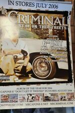 MR.CRIMINAL STAY ON THE STREETS POSTER  18 width by 24 length VERY RARE