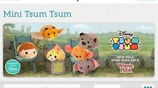 2015 Authentic Us Disney Store Winnie The Pooh Tsum Tsum Set of 6 Mini Usa