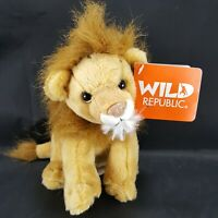 Wild Republic Lion Realistic Sounds Growls Calls Plush Stuffed Animal NEW Brown