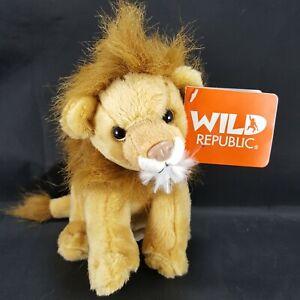 Wild Republic Lion Realistic Sounds Growls Calls Plush Stuffed Animal NEW Brown