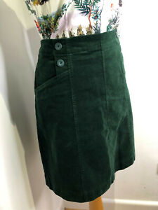 Seasalt Autumn Feast skirt dark green corduroy straight fit 12 VGC classic
