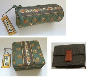 •Maggi B Quilted French Country - Meadow Green Paisley - make up case, wallet