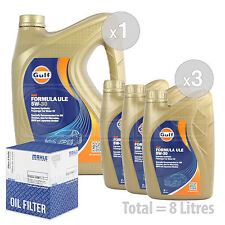 Engine Oil and Filter Service Kit 8 LITRES Gulf Formula ULE 5w-30 8L