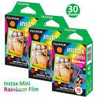 30 Rainbow Fujifilm Instax Mini Instant Films Photos For Fuji 7s 8 70 90 Camera