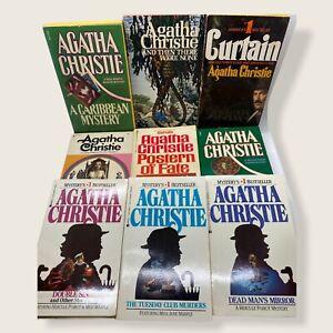 Lot of 9 Agatha Christie Mysteries Curtain Paperback Pocket Berkley 70-80s