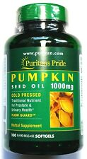 1000mg Pumpkin Seed Oil 100 Softgel Cold Pressed Herbal Prostate Urinary Health