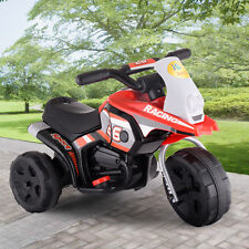 6V Kids Ride On Motorcycle Battery Powered 3 Wheel Bicyle Electric Toy New Red