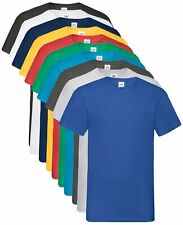 Fruit of the Loom Coton Uni Col En V Valueweight Tee T-Shirt Pour 4XL & 5XL