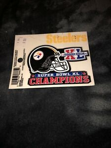 Pittsburgh Steelers Super Bowl XL champions decal