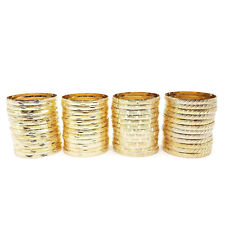 22k 24k Real Gold Plated 4 Pcs Look Slim Sleek Indian Bridal Bangle Bracelet Set