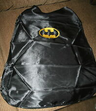 Batman Child's Black Silk Cape NWOT embroidered-FREE!! ADD A NAME!
