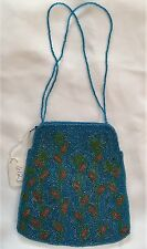 Clutch Bag Purse New Hand beaded with Beaded strap handles