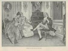 1891 - Antique Print FINE ART Theres no Fool Like an Old Fool Lute (008)