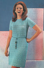 Crochet Pattern Lady's Dress/Tunic. Plus Sizes 38 to 42 inch Bust.