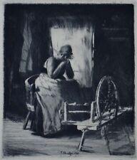 Ferdinand SCHMUTZER  1870-1928 Holländisches Mädchen vor dem Spinnrad  1900 Rad