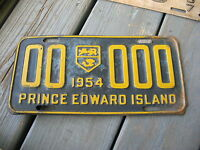 1954 54 PRINCE EDWARD ISLAND PEI CANADA SAMPLE LICENSE PLATE NICE TAG BUY IT NOW