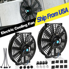 2X 10'' Electric Radiator Cooling Slim Fan Push Pull Mounting for 2018 GMC