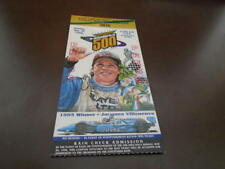 1996 INDY 500 TICKET STUB BUDDY LAZIER WINNER PICTURE EX-MINT