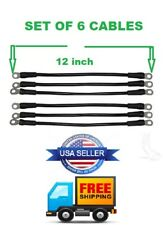 """6 AWG HD Golf Cart Battery Cable 6 Pc set 12"""" Long for E-Z-GO RXV Golf Cart"""
