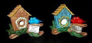 Feed The Birds Birdhouse Hand Painted Ceramic Home Decor  Figurine