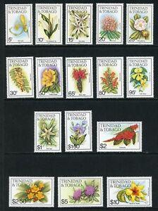 Trinidad & Tobago Scott #392-407 MNH Orchids Flowers FLORA CV$33+