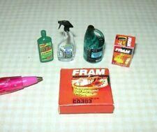 Miniature Car Care Set (5 Items) for Dollhouse Garage: 1:12 Scale