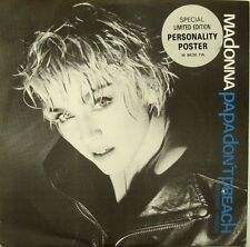 "Madonna Papa Don't Preach Uk 12"" w Personality Poster!"