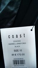 Rare Coast Little Black Party Dress 10 Swannell Stretch Slinky with silk BNWT