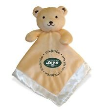 NY NEW YORK JETS BABY SECURITY BEAR BLANKET, NFL OFFICIALLY LICENSED, 14X14