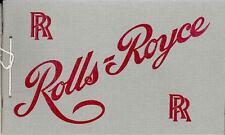 1906 Rolls Royce Silver Ghost Prestige Brochure wq793-8XG43K