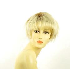 Perruque femme courte méchée blond racine blond foncé VALENTINE YS