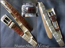 Gorgeous BRIGHTON Filagree Silver Link Alligator Ladies Belt
