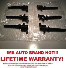 Ford Mazda Mercury Set of 6 Ignition Coils kit 3.0 V6 DG500 Pre-Greased/Tested!!