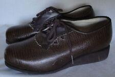 1970's Disco Lizard Print Leather Vintage Shoes 6 Wedge Heel