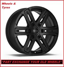 "4x Super Metal Compass 18"" VW Amarok New Matt Black Alloy Wheels & Tyres"